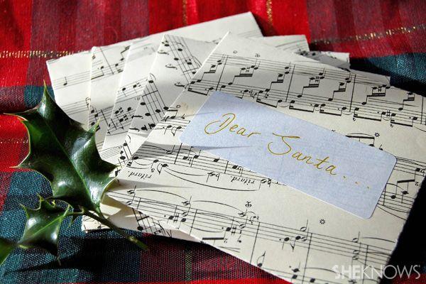 #DIY holiday envelope tutorial
