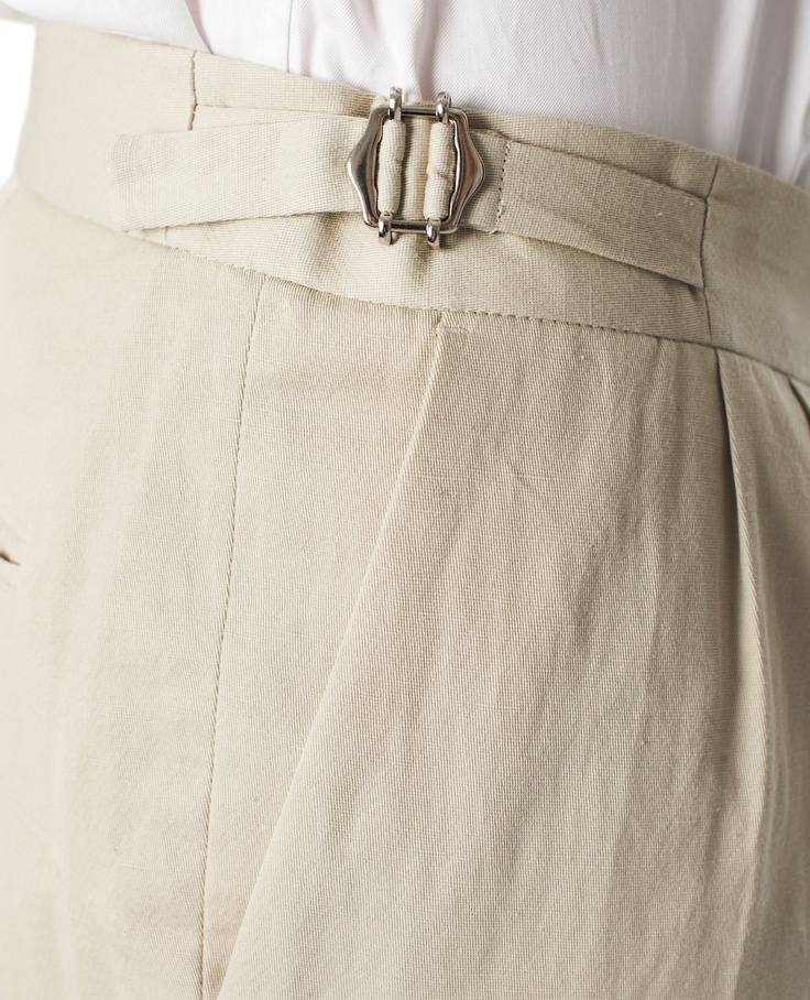 The Kooples Linen trousers with waistband detail - Trousers - Men