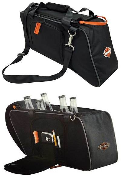 Ice Chests and Coolers 79691: Harley-Davidson Saddlebag Utility Tote Cooler, Bar And Shield Logo, Black 439-02 -> BUY IT NOW ONLY: $49.95 on eBay!