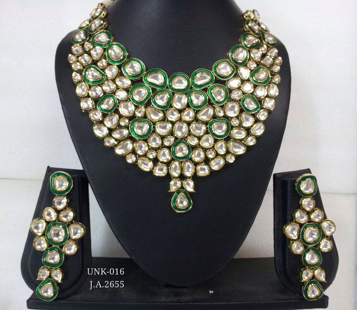 Jaipuri maharani kundan meena necklace