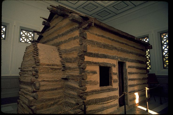 Abraham Lincoln Birthplace National Historical Park - The original log cabin that Lincoln was reputed to have been born in was dismantled sometime before 1865. Local tradition held that some of the logs from the cabin were used in construction of a nearby house. New York businessman A.W. Dennett purchased the Lincoln farm in 1894 & used the logs from this house to construct a cabin similar in appearance to the original cabin where Lincoln was born.