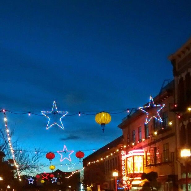 Chinatown, Victoria, BC Christmas lights