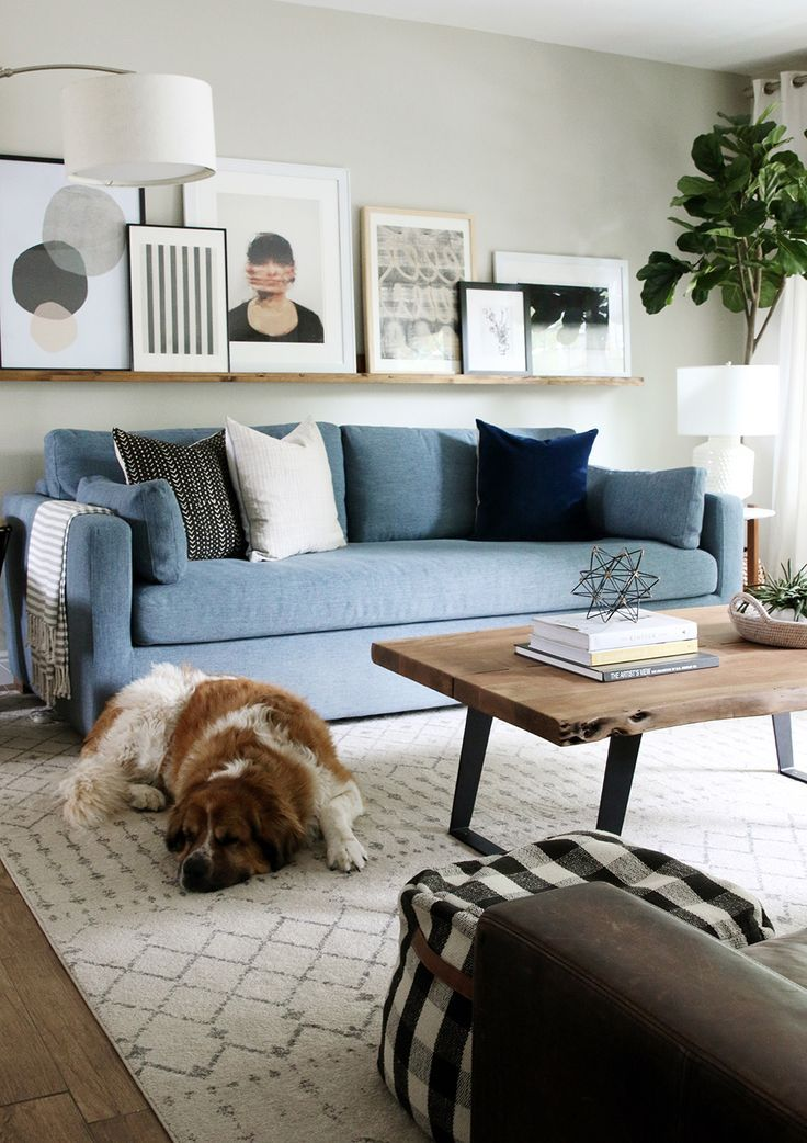 12 Projects We Knocked Out In 2017 Blue Couch Living Room Blue Sofas Living Room Blue Sofa Living