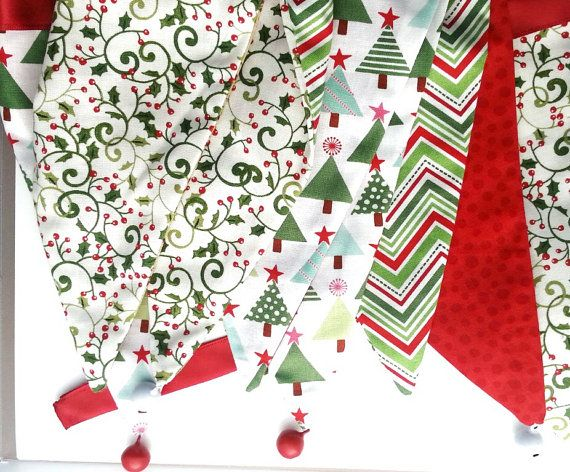 Festive bunting for your home by DunnCrafting on Etsy