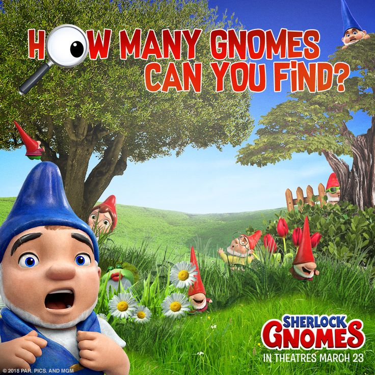 Sharpen your detective skills! Can you spot all the gnomes in this image? #SherlockGnomes