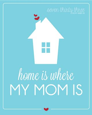 Home is where my mom is...   Free 8x10 Printable