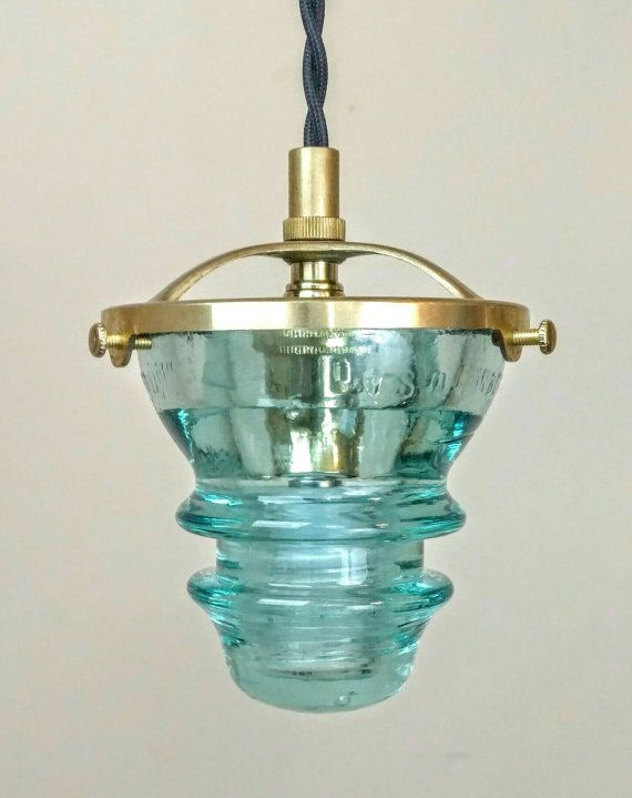 Check out this item in my Etsy shop https://www.etsy.com/listing/489275182/pendant-light-glass-insulator-light-led