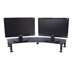 dual monitor riser stand
