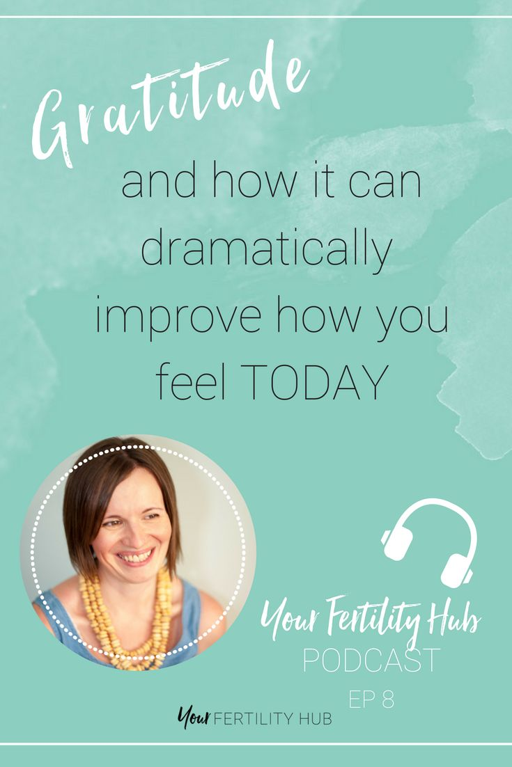 """During #infertility it's hard to feel grateful for your lot. When everyone around you is getting pregnant and you're still riding the #ttcjourney.   Listen to the latest podcast to learn how starting a daily gratitude practice can help you see the little things in your life that are ok, good and great and that by celebrating those, you can start to feel more positive everyday.  """"It is not joy that makes us grateful, but gratefulness that creates joy."""""""