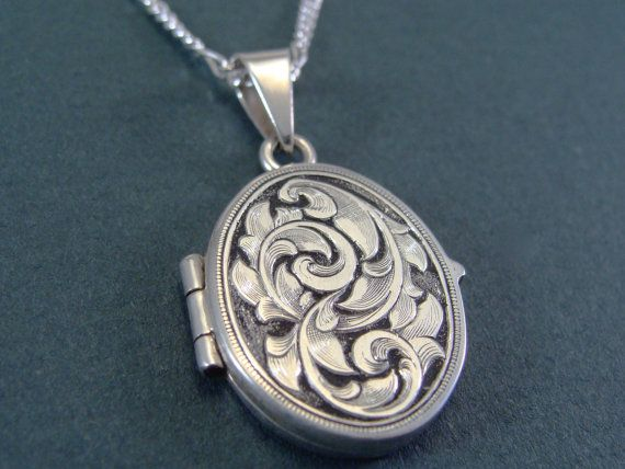 Hand Engraved Art Nouveau Inspired Sterling by JelliesJewelry, $238.00