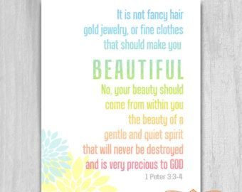 bible verse about beauty - Google Search