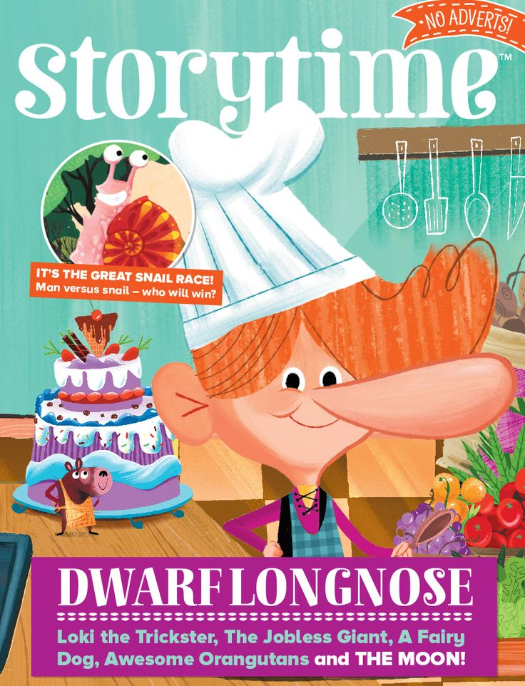 Storytime Issue 39 is out now starring Dwarf Longnose, awesome orangutans, a friendly giant, a turbo snail and a fairy dog! Stories for everyone! ~ STORYTIMEMAGAZINE.COM