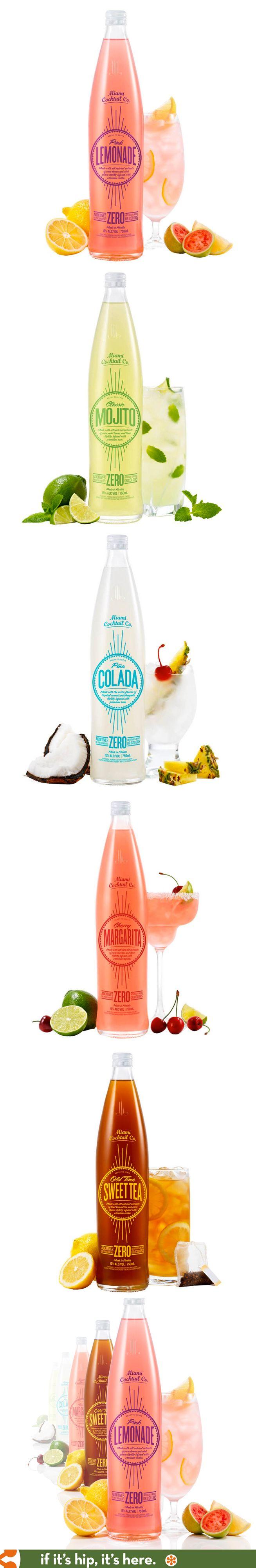 Miami Cocktail Company's fun retro bottle designs.
