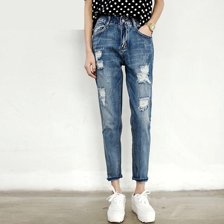 29.38$  Buy now - http://alidm2.shopchina.info/go.php?t=32740005762 - New Arrival Boyfriend Jeans For Women Fashion Loose Jeans Pants BF Style Plus Size Harem Jeans Woman Denim Lady Pants Tousers  #buyonline