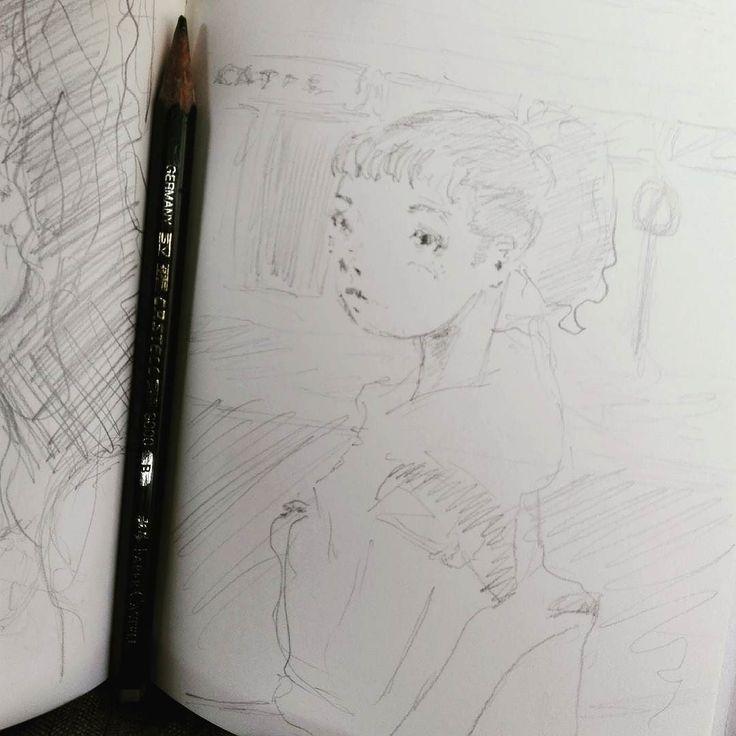 #21aprile all'Osmannoro le pecore pascolano con dietro una piramide a gradoni ed io disegno sull'autobus in direzione Capalle.  #sketch #sketchbook #drawing #draw #disegni #illustration #illustrazione #illustrate