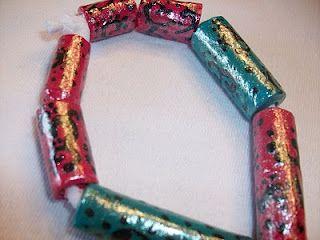 Stepping Thru Crazy: Recycled Craft: Plastic Bag Beads