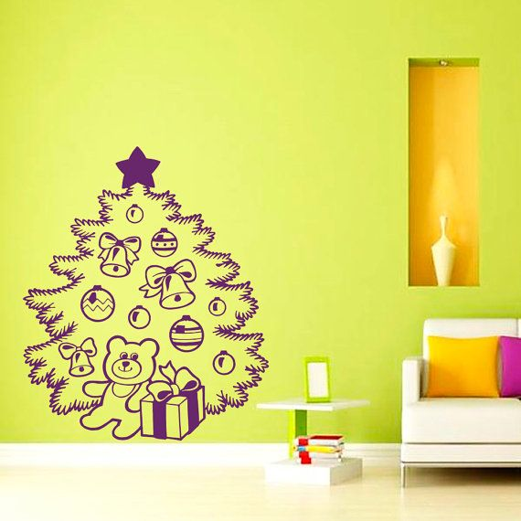 27 best Christmas Decals images on Pinterest | Stickers, Wall decal ...