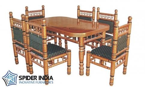Sankheda Dining set Furniture in Bangalore by Spider India