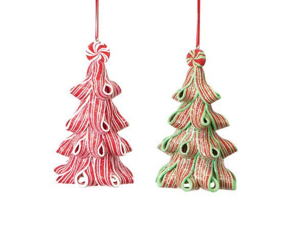 ribbon christmas ornaments | ... Pack of 12 Candy Crush Peppermint Ribbon Christmas Tree Ornaments 4.5
