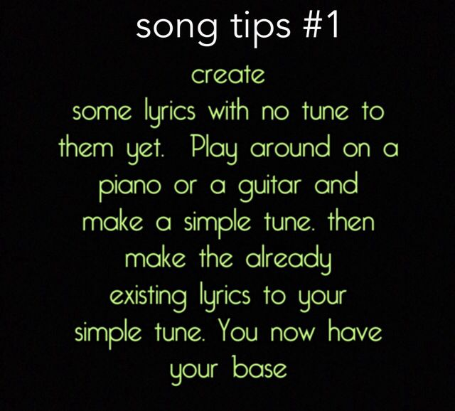 Songwriting tips. Learn how to write a song.