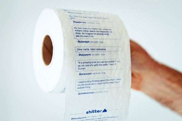 Shitter : Du papier toilette imprimé avec des messages Twitter
