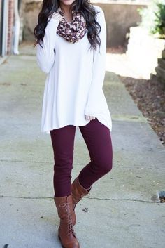 I am all about a long shirt and some leggings! AND BOOTS! #FallFashion #Leggings #LongShirt #Boots