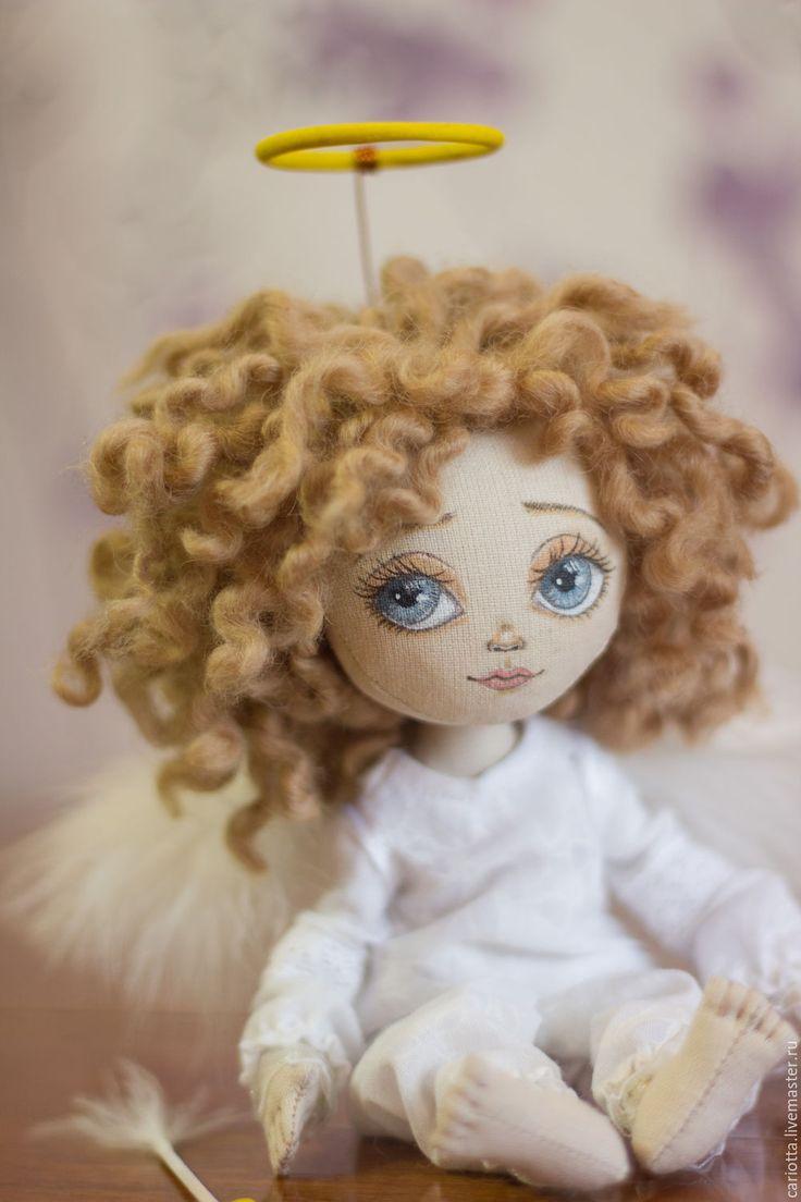 Cute fabric doll / Купить Ангелочек - белый, подарок девушке, подарок жене 14 февраля