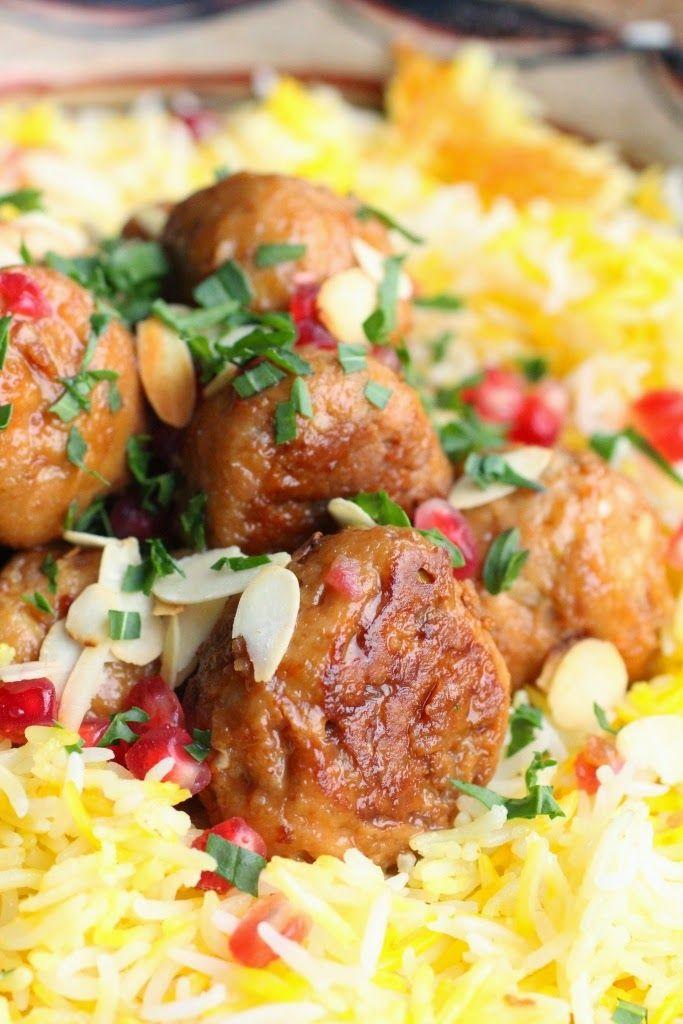 Boulette de poulet aux amandes et ratafia de Champagne Pinot Meunier, riz à l'iranienne