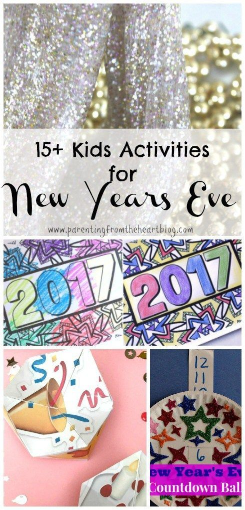 For tired parents who have just shelled out a lot over Christmas, Kwanza, and/or Hanukah, New Years Eve at home is NICE. Include your children by trying any number of these 15+ New Years Kids Activities! These New Years Eve kids activities are simple, roo