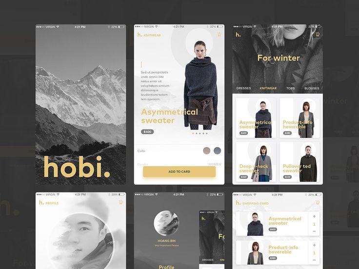 fashion app ui kit psd
