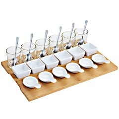 shopping list: Bamboo Tasting, Party Starters, Dinners Party, Starters Sets, Tasting Sets, Pier One, Party Idea, Bridal Showers Desserts, Tasting Party