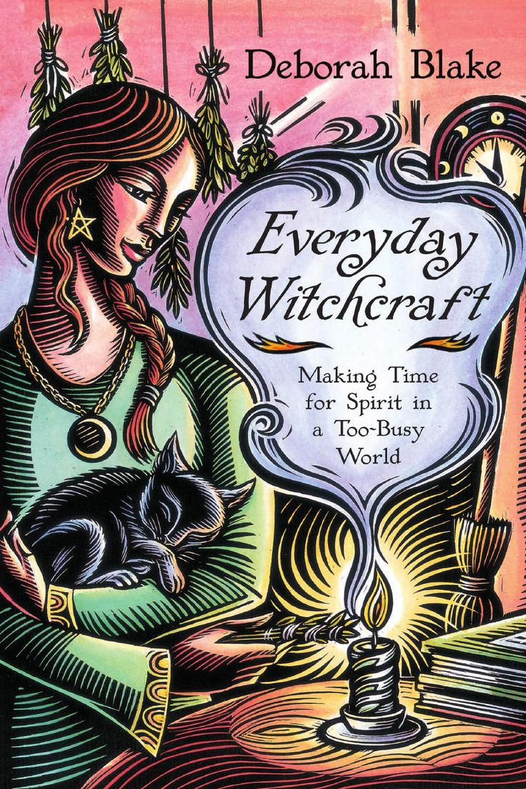 """Everyday Witchcraft, by Deborah Blake  Everyday Witchcraft is a book for today's Witch—busy and overwhelmed, but still longing to find a way to make a spiritual connection and integrate her Pagan beliefs with her everyday life. Simple, fun, and easy to follow, this book is both practical and empowering. Includes """"5 Minute Rituals"""" along with suggestions for easy daily or monthly practice. Bring magick into your everyday life!"""
