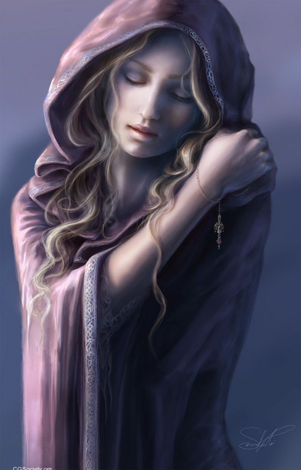 """Memories"" by Spanish fantasy artist Sonia Verdu. Each of her digital paintings tells a mysterious & dreamy story."