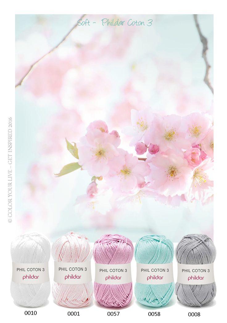 Kleurinspiratie - soft Phildar Coton 3