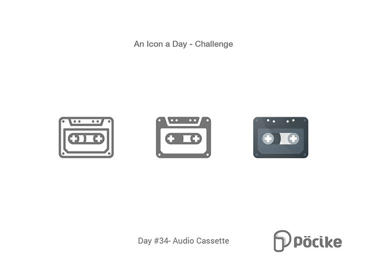 Icon Challenge Day 34 Audio Cassette