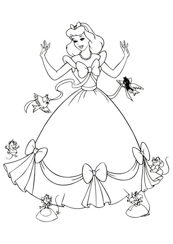 Coloring Page Cinderella Coloring Pages Disney Princess Coloring Pages Princess Coloring Pages