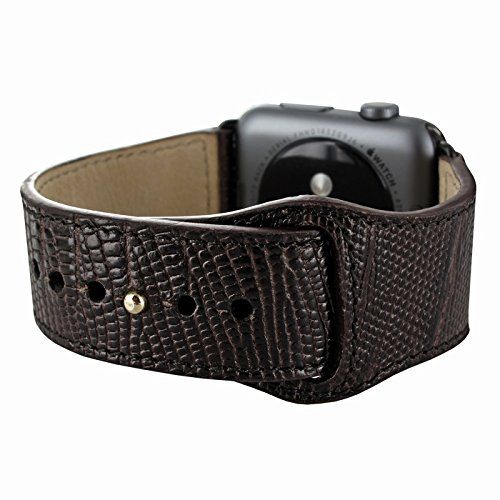 Piel Frama Armband Case for Apple Watch 42 mm - Lizard Brown. Fits wrists between 15-20cm in diameter. Introducing the Piel Frama Apple Watch leather wrist strap. This beautiful high quality leather strap will add style and elegance to your new Apple Watch.