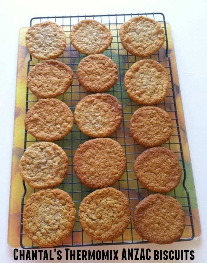 Makes about 24 large 0r 40 small biscuits This is another beauty from the Thermomix Recipe Community. Chantal also has a Thermomix blog aptly named Thermomix Delights. This recipe that she adapt…