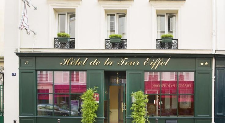 Hôtel Tour Eiffel Paris Hotel Tour Eiffel is located on a side street just 750 metres from the Eiffel Tower. It offers an internal, garden courtyard and en suite accommodation with free Wi-Fi access.