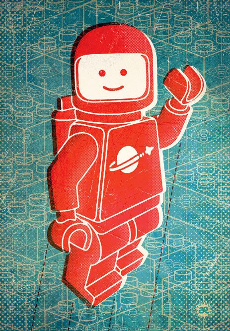 astronaute lego rouge