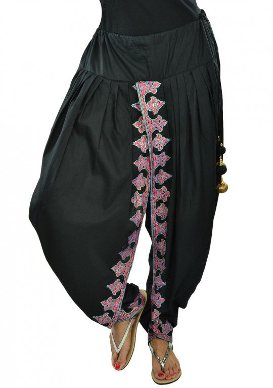 Cotton block printed dhoti pants