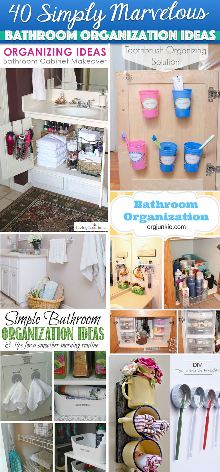 40 Simply Marvelous Bathroom Organization Ideas To Get Rid Of All That Clutter Cute Diy