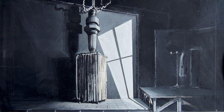 Frankenstein a Hortaleza  - Alfonso Sastre / Bozzetto di scena • GianVincenzo Gatti