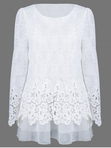 GET $50 NOW | Join RoseGal: Get YOUR $50 NOW!http://www.rosegal.com/blouses/mesh-patchwork-layered-lace-blouse-715835.html?seid=7100631rg715835