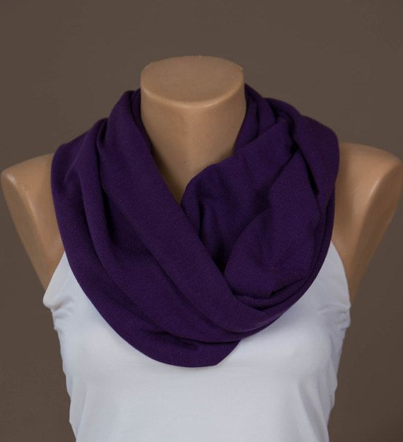 Infinity scarf,Knit Infinity Scarf,Fall - Winter Infinity Scarf,Purple Shawl,Scarves For Women,Fashion Accessories,Scarves,Double-layered