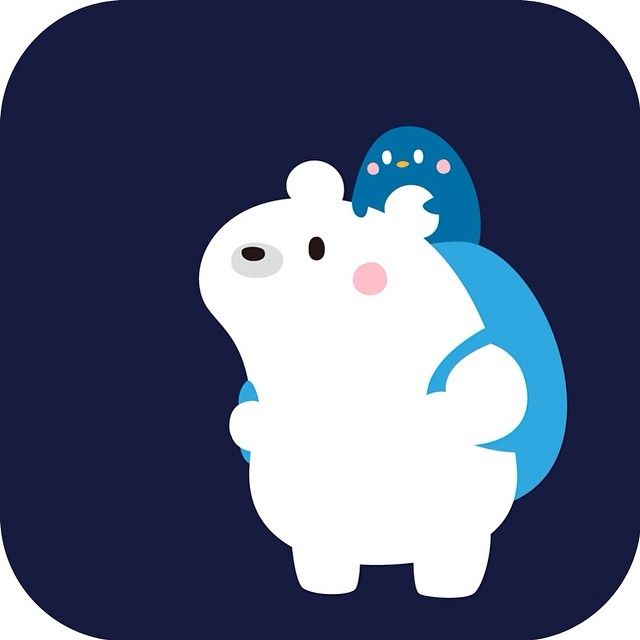 White bear & penguin 白くまとペンギン! #illistagram #illustraton #penguin #art #whitebear #白熊 #bear #熊 #ペンギン #鳥 #イラスト #絵 #cute #webstagram