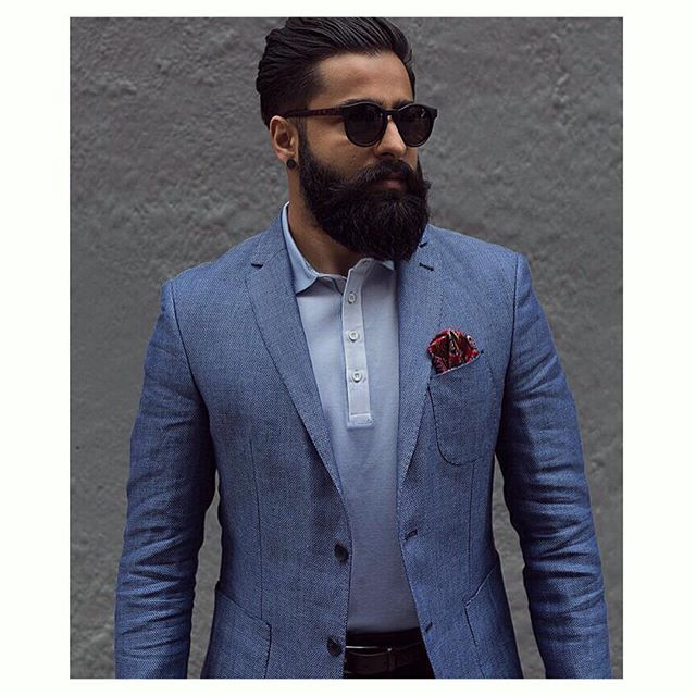 Great shot of @bhanu_r #WearingWorkingStyle. Our blue cotton/linen jacket and polo   #workingstylenz #menswear #jacket #tailored