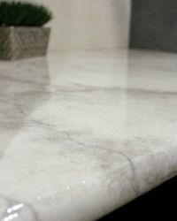 how to spray paint faux granite countertops