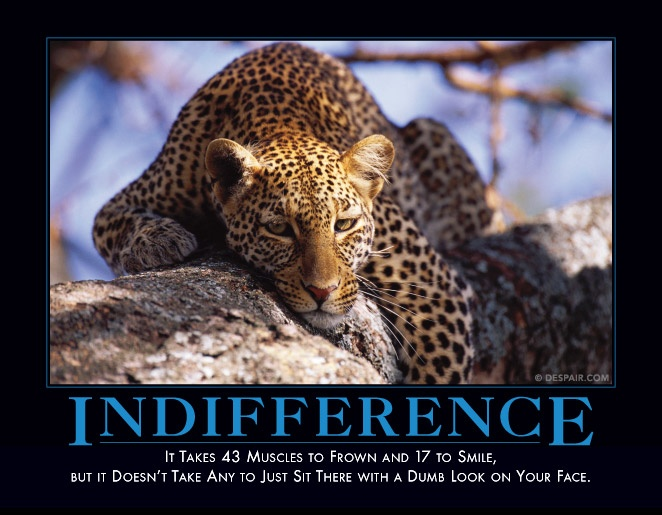 Indifference | Demotivational Posters | Pinterest