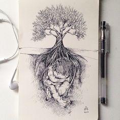 Les dessins de nature mèlée de Alfred Basha Dessein de dessin